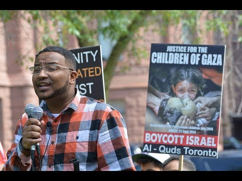 Br. Walied Khogali at Toronto Al-Quds Day Rally 2017