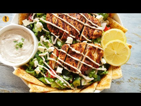 Quick Recipes - Shawarma Salad Recipe - English Urdu
