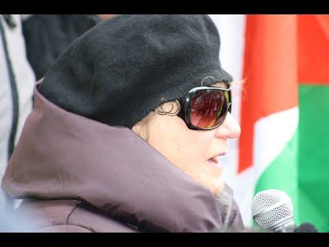 Suzanne Weiss - IJV Speaking at Toronto Hands Off Jerusalem Al-Quds Rally - English