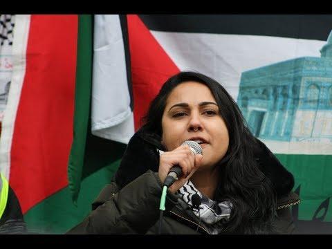 Sarah Ali (SAFE) Speaking at Toronto Hands Off Jerusalem Al-Quds Rally Dec.09 2017 - English