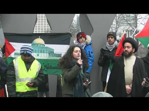 Nour Alideeb Speaking at Toronto Hands Off Jerusalem Al-Quds Rally Dec.09 2017 -English