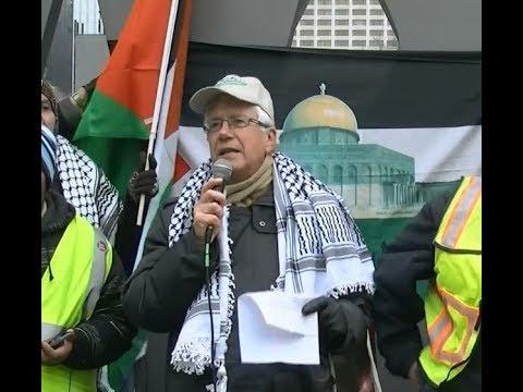George Bartlett United Church Speaking at Toronto Hands Off Jerusalem Al-Quds Rally Dec.09 2017 - English