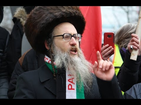 Rabbi Dovid Feldman NKI Speaking at Toronto Hands Off Jerusalem Al-Quds Rally Dec.09 2017 -English
