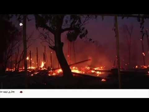 [25Feb2018] میانمار کی فوج روہنگیا مسلمانوں کی بستیوں کو مسمار کررہی ہے