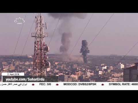 [11APR2018] غزہ پر اسرائیلی جنگی طیاروں کے حملے  - Urdu