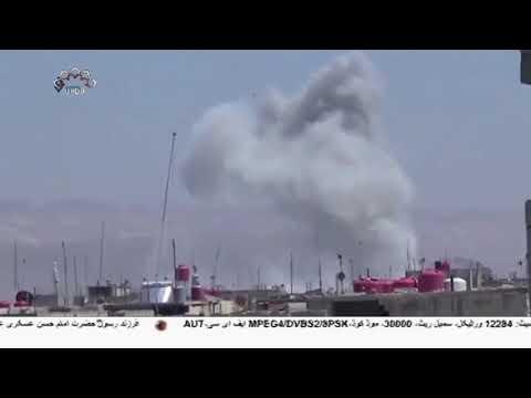 [16Dec2018] شام کے شہر ہجین کی مسجد پر امریکی اتحاد کی بمباری-Urdu