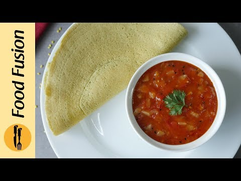 [Quick Recipe] Moong Daal Cheela With Pineapple tomato chutney - English Urdu