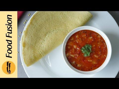 [Quick Recipe] Moong Daal Cheela With Pineapple tomato chutney - English Urdu