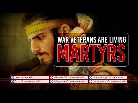 War Veterans are Living Martyrs   Imam Sayyid Ali Khamenei   Farsi Sub English