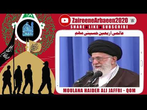 Clip | Moulana Haider Ali Jaffri  | Arbaeen Se Yazidon Ka Muqabla | Aalami Zaireene Arbaeen 2020 | Urdu