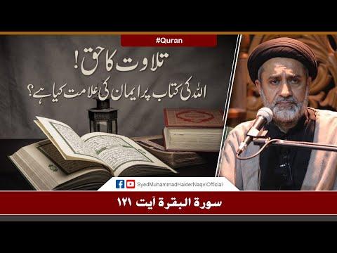Tilawat Ka Haq!    Ayaat-un-Bayyinaat    Hafiz Syed Muhammad Haider Naqvi