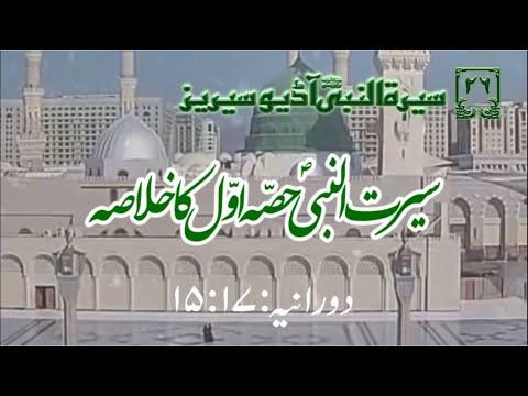 [26]Topic: Summary of first part of See\'rah of Holy Prophet PBUH | Maulana Muhammad Nawaz - Urdu
