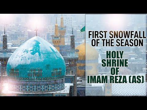 Snowfall lastnight at the Holy Shrine of Imam Reza (as) in Mashhad, Iran   Snowfall   Mashhad
