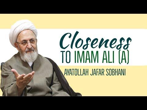 Closeness to Imam Ali (a)   Ayatollah Jafar Sobhani   Farsi sub English