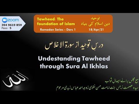 ZOOM Dars | Dars Tauheed az Sura Ikhalss I Syed Zaki Baqri | Urdu