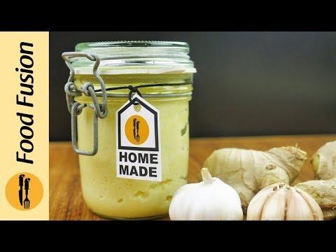 [Quick Recipe] Ginger Garlic Paste (Homemade) - English Urdu