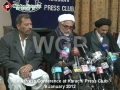 [9 January 2012] Press Conference - شیعہ علما و اکابرین - Karachi Press Club - Urdu
