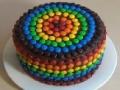 Cooking Recipe - M & M Rainbow Pinata Cake - English